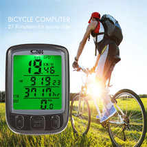 Multifunction Bicycle Computer Odometer Speedometer Cycling LCD Green Ba... - $12.99
