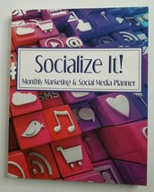 Monthly Marketing and Social Media Planner NEW Socialize It! 2019 Planning - $24.99