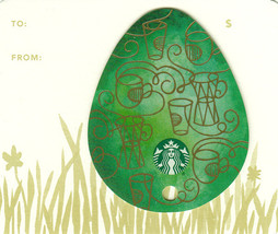 Starbucks 2016 Green Easter Egg Collectible Gift Card New No Value - $2.99