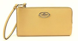 NEW! Authentic! COACH Refined Grain Leather Zip Wallet Checkbook Wallet - $91.95