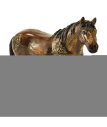 Non Metal Bejeweled Spencer Dark Bay Horse Trinket Box (Length=5.1) (Wid... - $48.71