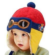 Hot Baby Warmmer Hat Cute Baby Winter Earmuffs Cap RED, 10-48 Months