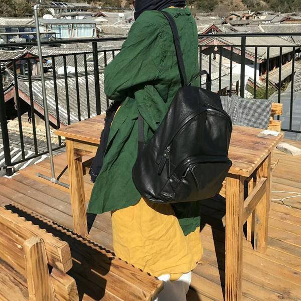Sale, Full Grain Leather Women Backpack, Ladies Travel Backpack, Laptop Backpack image 4