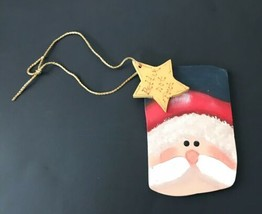 Hand Painted Santa Claus Face Ornament Better Not Pout Holiday Christmas... - $11.87