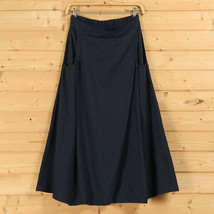 Women A Line Linen Skirt Ankle Length Linen Cotton Casual Skirt,Army Green Navy  image 2