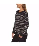 Calvin Klein Women's Crew Neck High Low Pullover Sweater  Black Sz M - $18.79