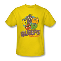 Bleeps T-shirt Sour Fruit Candy retro 80's 100% cotton graphic yellow tee DBL10 image 2