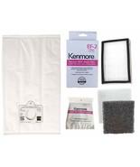 6 Kenmore Q/C  Vacuum Bags + 1 EF 2 (86880) + 1 CF 1 (81002) 5055 50557 ... - $34.95