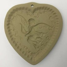 Vtg Cookie Press Cupid Heart Love Craft Brown Bag Food Mold USA Valentin... - $49.45