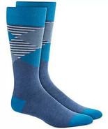 Mens Dress Socks Argyle Stripe Navy Blue Alfani Alfatech 1 Pair $10 - NWT - $3.95