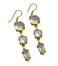 Yellow Gold Plated Fashion fascinating Fire opal CZ exporter Earring AU gift - $8.33
