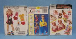 Lot of 3 Childrens Costume Patterns Sz 6 Mon- 3 Dog Devil Pumpkin Santa Penguin - $9.89