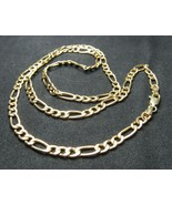 """14k Yellow Gold 20"""" Figaro Chain Necklace 3.5mm Solid 6.3g Fortunoff OR ... - $469.99"""