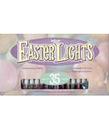 Piggy Back Pearlized Pastel Easter Lights - 35ct Floral Wreaths Multi Color - $24.70