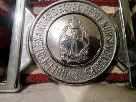 Queen Alexandras Royal Army Nursing Corps Belt With Silver Metal Buckle - $27.55