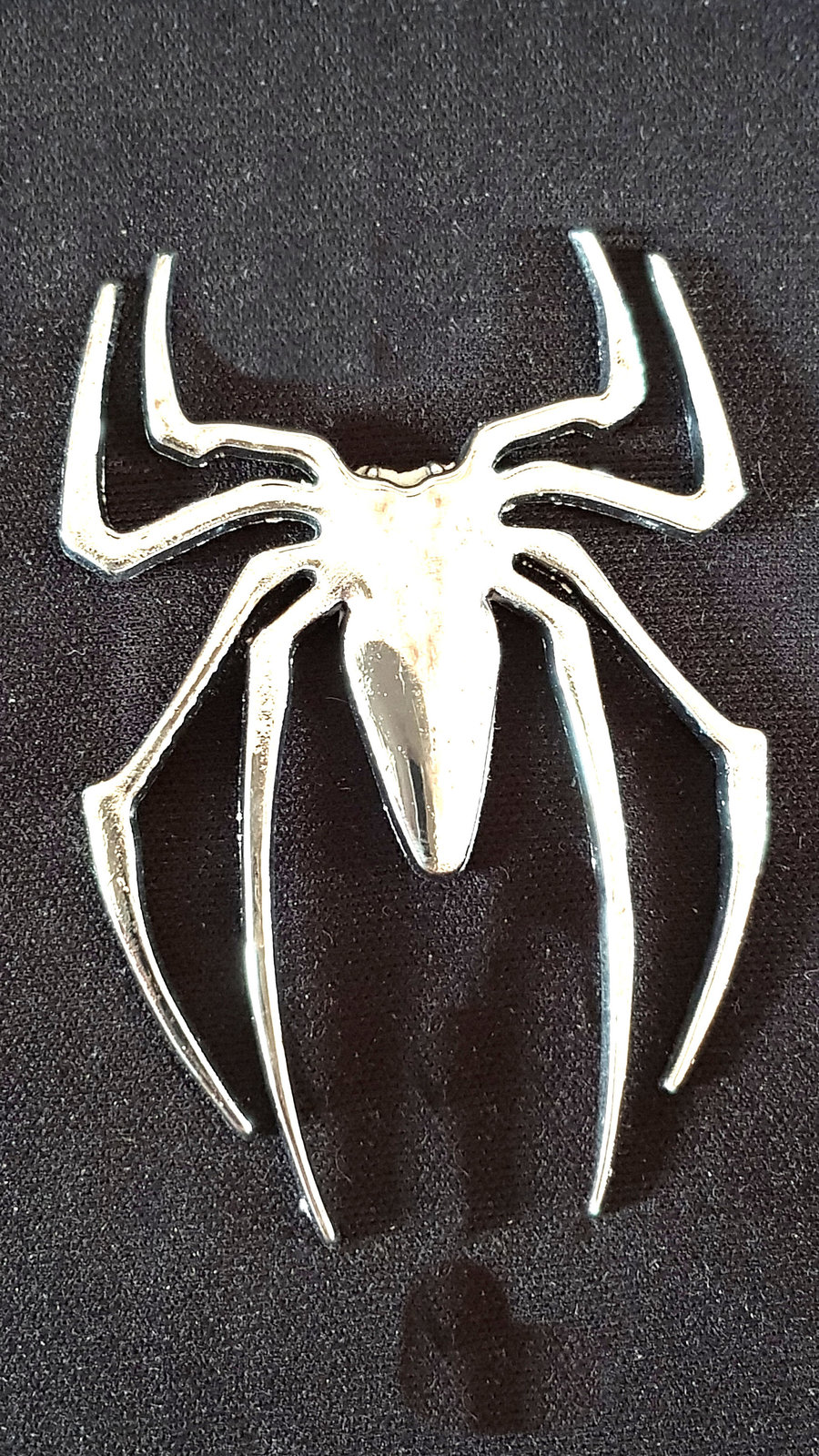 mettalised chromed,SPIDER decal ideal caravan, home, garage, car, laptop etc