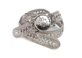 Roberto Cavalli Women's Silver Metallic Chain Belt Size 46/M RTL $1350 NWT - $332.50