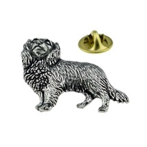 Cavalier King Charles Dog made in english Pewter Lapel Pin Badge, gift boxed