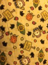 Pumpkin Patch Scarecrows Flannel Print 100% Cotton Flannel Fabric - $10.00