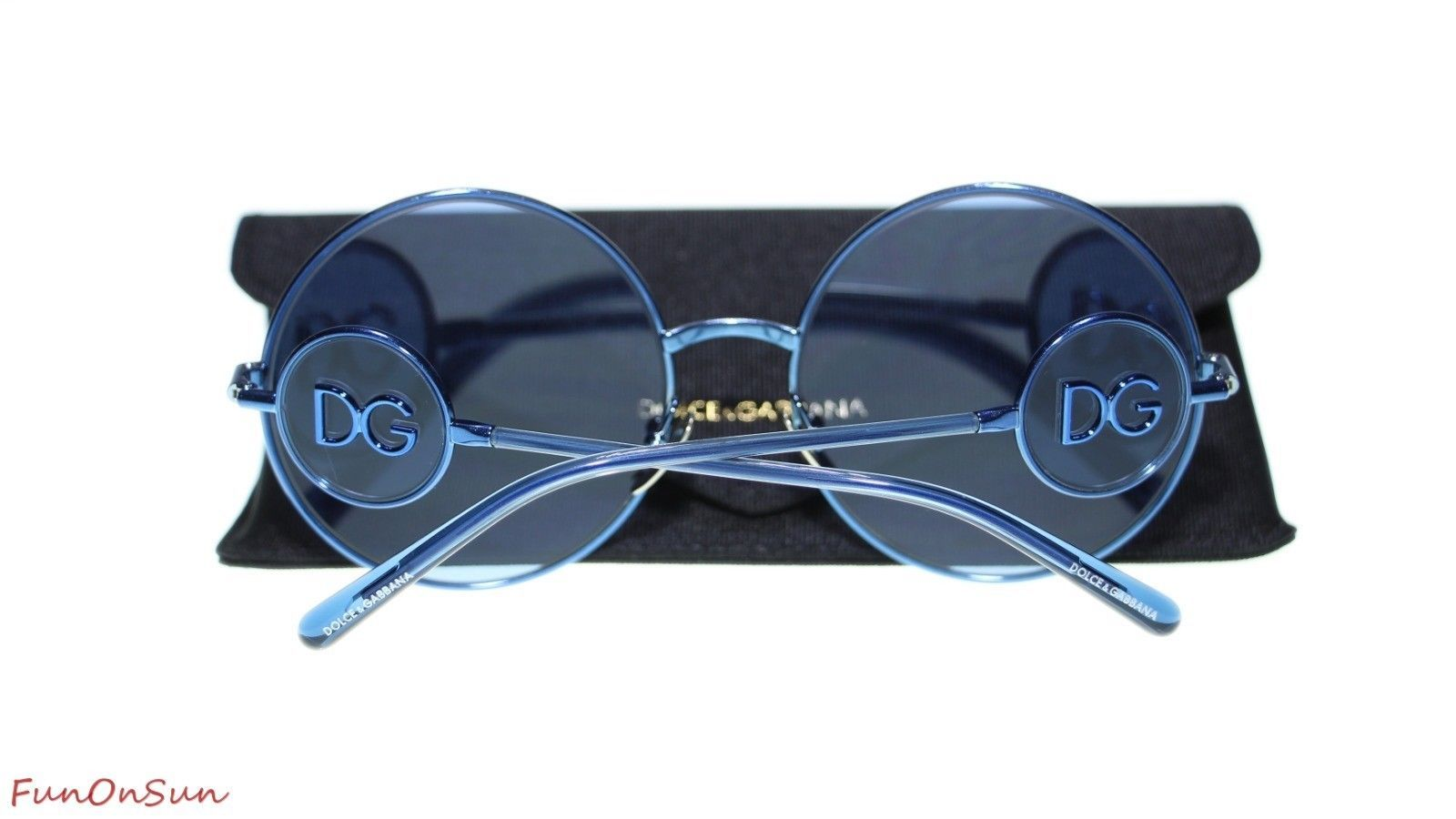 Dolce Gabbana Women Sunglasses DG2205 132480 Blue/Blue Lens 59mm