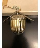 Vintage Christmas Metal Pine Ball Ornament - $9.90