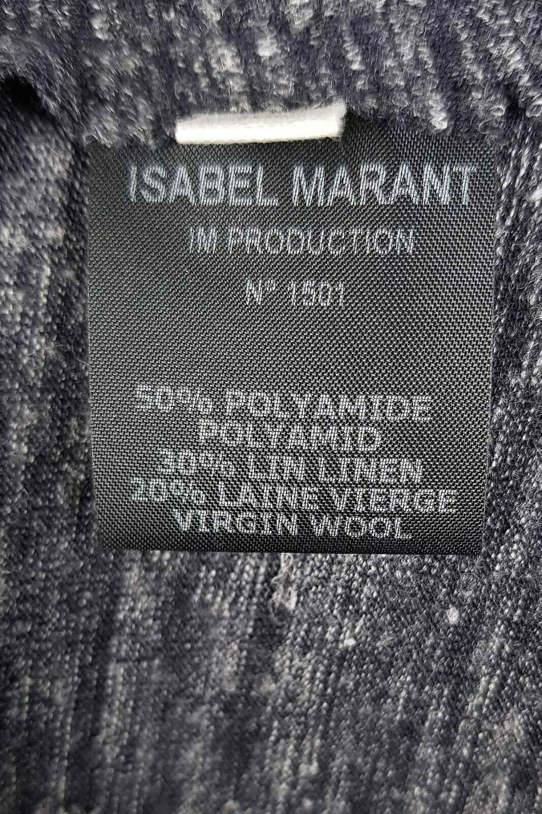Isabel Marant Etoile grey Malo long sleeve side ruffle top
