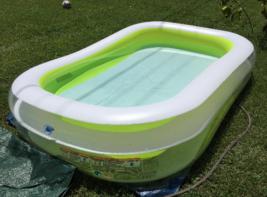 Kids Inflatable Swimming Pool 8.5 x 5.75 x 2 foot Toddler Splash Pool - $49.99
