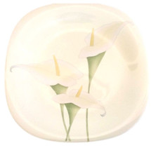 Set of 2 Mikasa China Salad Plates, Lilies Floral Gallery, Tempo Eighty - $29.99