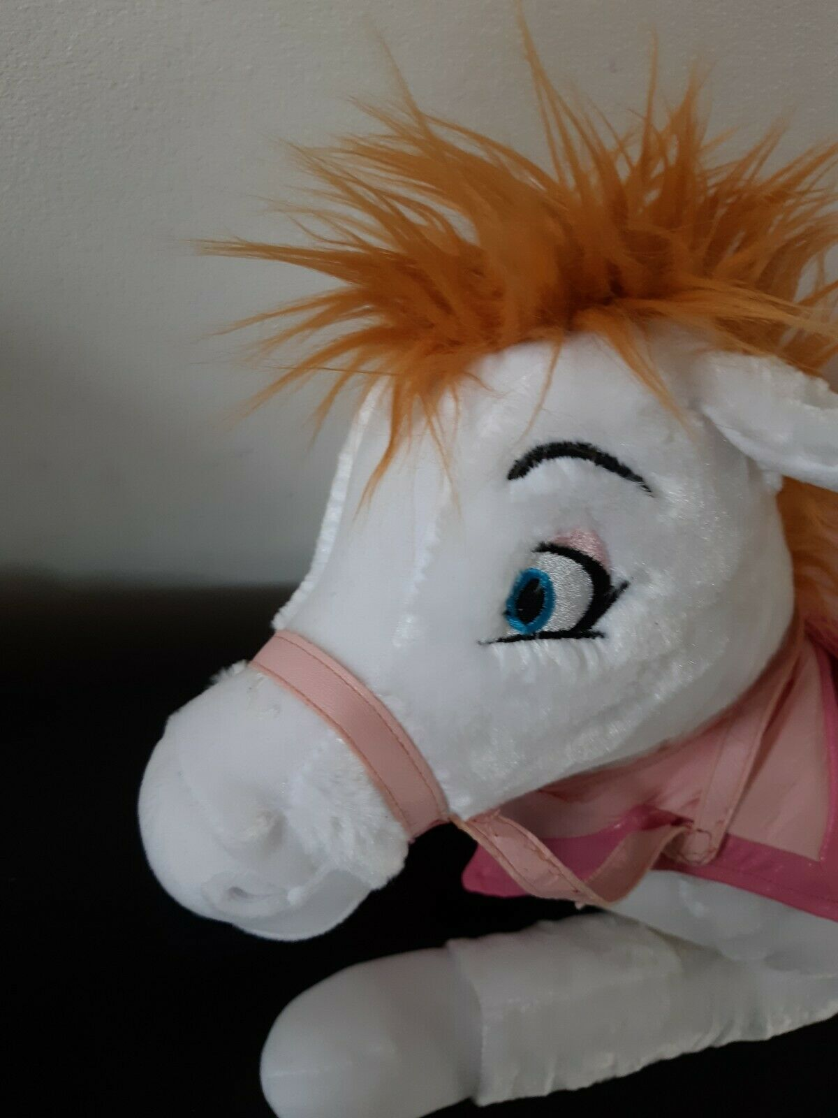 Disney Store Exclusive Princess Ponies Pink Saddle Princess White Plush Stuffed