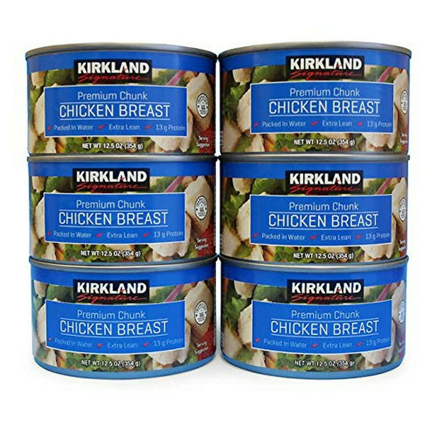 Primary image for Kirkland Signature Premium Chunk Chicken Breast Cans, 12.5 oz, 6 ct