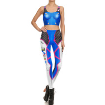 Overwatch D.VA Gym Yoga Running Suit Set Fitness Vest Zentai Tracksuit - $27.06