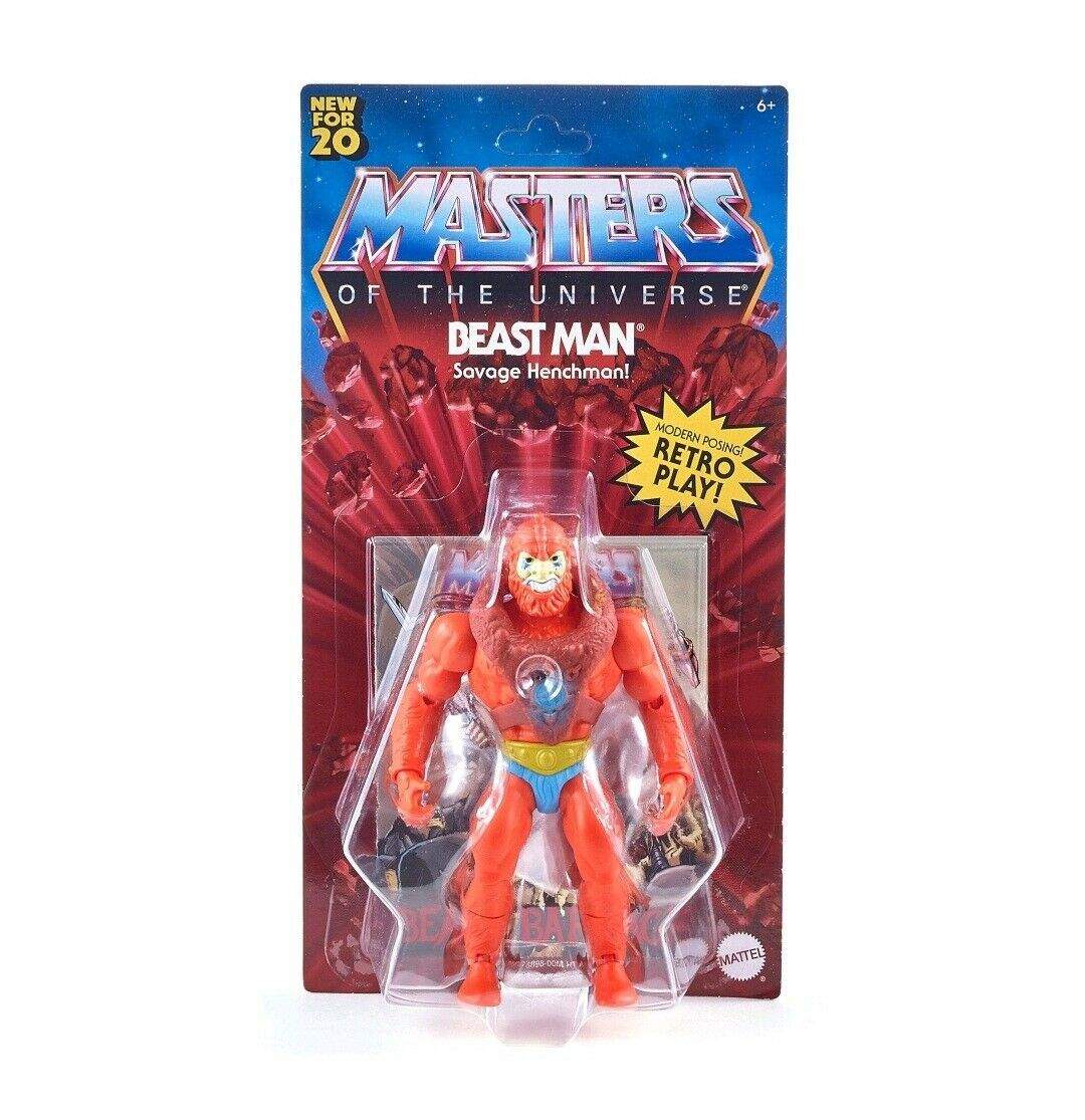 NEW SEALED 2020 Masters of the Universe Retro Play Beast Man Action Figure MOTU - $32.43