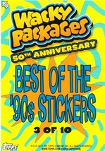 """2017 Wacky Packages 50th Anniversary Best of the 90's Stickers """"PEGO"""" #3 - $1.25"""