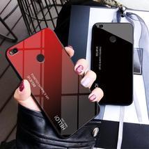 MUCHI For Xiaomi Mi Max 2 Case Tempered Glass Luxury Gradient Soft Silic... - $8.99