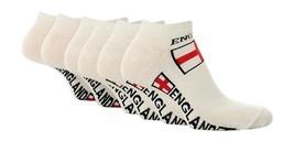 Calcetines de tobillo blancos con bandera de Inglaterra 6 pares - $8.94