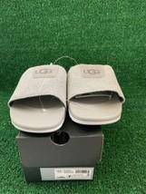 New UGG Mens Xavier HyperWeave Size 7 Seal Gray Knit Slide Sandals 1092299 - $53.90