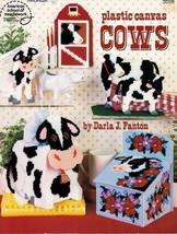Plastic Canvas Cow Tissue Cover Drink Sweetener Coaster Caddy Filter Bin Pattern - $12.99