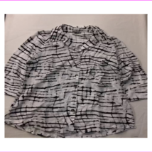 JM Collection Women's  3/4 Sleeve Button Front Blouse - $9.99