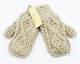 New Pair of Womens Sandbar Beige Cozy Cable Mittens by Collection XIIX #GL4 - $8.90