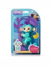 Fingerlings Baby Turquoise Monkey Zoe Purple Hair AUTHENTIC(wowwee) - $24.99