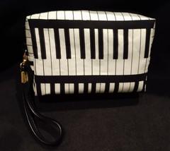 Clutch Bag/Wristlet/Makeup Bag - Music/Black & White Piano Keyboard