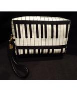 Clutch Bag/Wristlet/Makeup Bag - Music/Black & White Piano Keyboard - $29.95