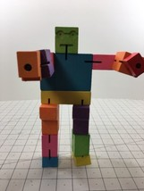 "CubeBot Puzzle Colored David Weeks Studio Areaware 2014 9.5"" Wood 0034 Cube - $14.84"