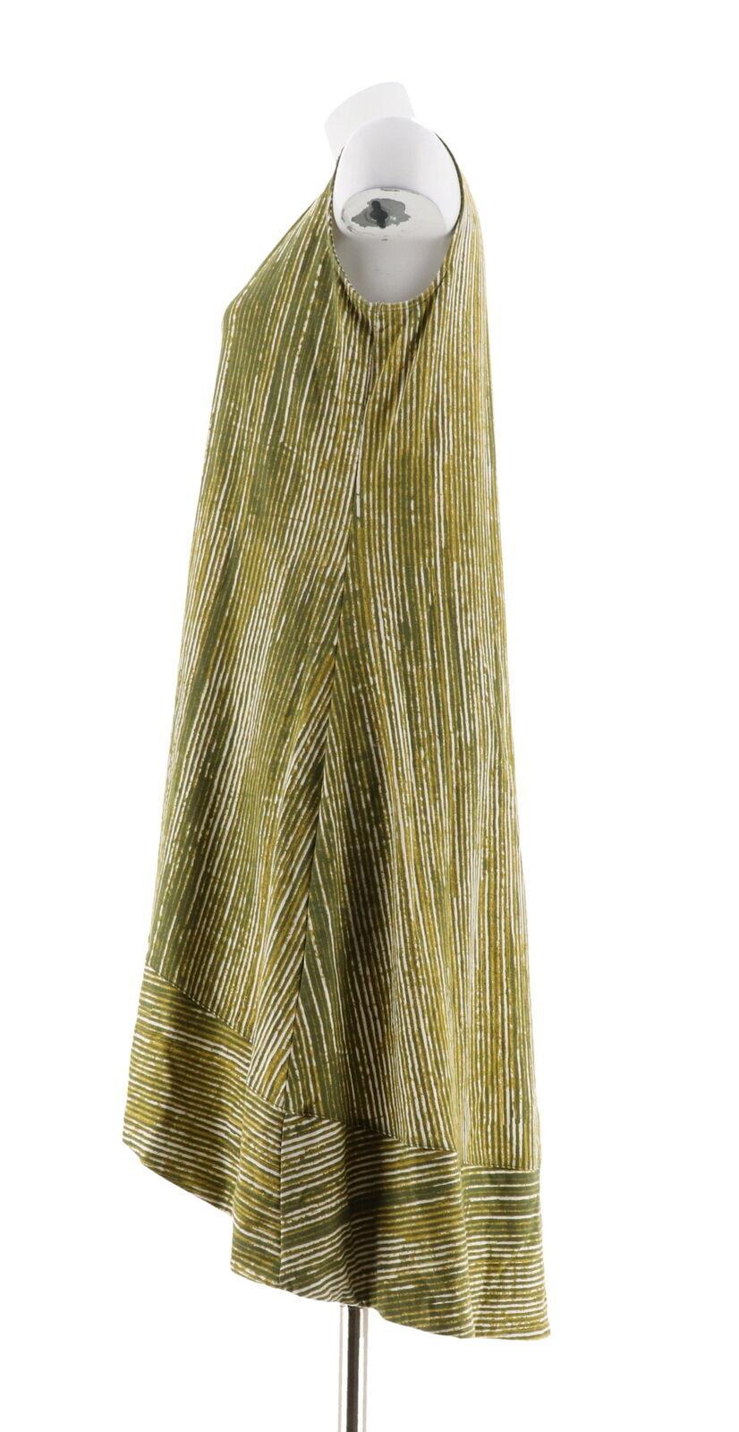 H Halston Petite Printed Slvless Hi-Low Midi Dress Vine P1X NEW A306907
