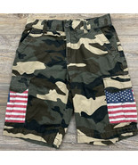 Carbon Camouflage Shorts Men's Size Size 30 American Flag 100% Cotton  - £15.86 GBP