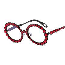 Diamond Round Sunglasses Women Sexy Shades Oval Rhinestone Eyeglasses Luxury Bra image 13