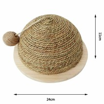 Wooden Bottom Plate Straw Claw Ball Cat Toy Climbing Frame W Sisal Hangi... - $44.46 CAD