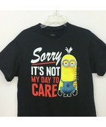 Despicable Me Minion T shirt Medium Black Sorry Its Not my Day to Care New  - $24.88
