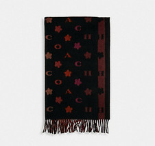 ❤️NWT Coach 4623 Stars Striped  Wool Muffler Scarf Wrap Black    - $85.00