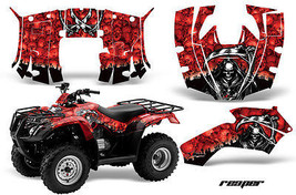ATV Decal Graphics Kit Quad Wrap For Honda FourTrax Recon 2005-2018 REAPER RED - $168.25